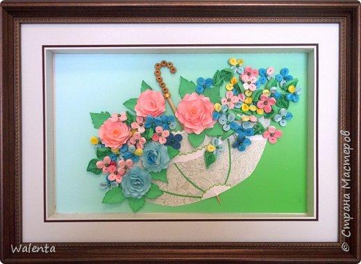 Вот и у меня есть зонтик с цветами.Идею взяла в нашей Стране Мастеров у Антонины 111.Ей отдельная благодарность.Впервые здесь делала розы по МК Лики 2010.Большое спасибо. фото 2