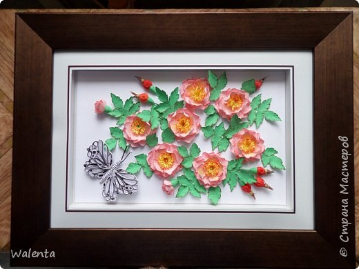 Пока делала розы  для зонтика, созрела вот эта картинка.Конечно,так в природе не бывает - и цветы и плоды одновременно,но ведь в нашей Стране Мастеров творятся настоящие чудеса... фото 6