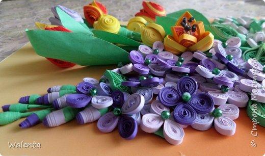 Мои первые тюльпаны. (Училась у Ольги Ольшак)А цветочки сирени изначально делались для гортензии,но что-то панно не сложилось.Все цветочки ушли на другие картины.И вот что получилось фото 3