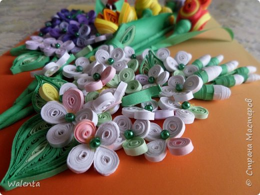Мои первые тюльпаны. (Училась у Ольги Ольшак)А цветочки сирени изначально делались для гортензии,но что-то панно не сложилось.Все цветочки ушли на другие картины.И вот что получилось фото 4