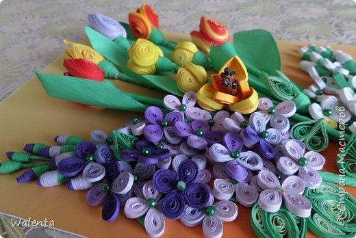 Мои первые тюльпаны. (Училась у Ольги Ольшак)А цветочки сирени изначально делались для гортензии,но что-то панно не сложилось.Все цветочки ушли на другие картины.И вот что получилось фото 6