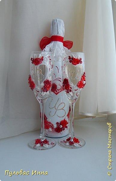 Представляю очередной свадебный наборчик. И опять в красном цвете. Наверное это очень модный в этом сезоне цвет)))) фото 2