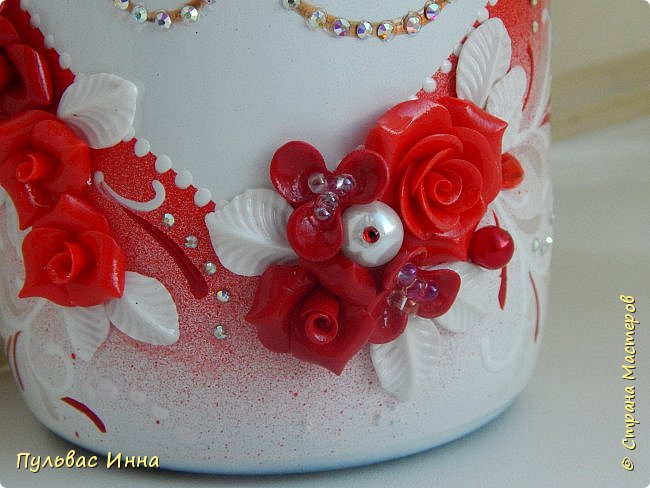 Представляю очередной свадебный наборчик. И опять в красном цвете. Наверное это очень модный в этом сезоне цвет)))) фото 13