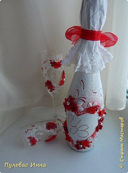 Представляю очередной свадебный наборчик. И опять в красном цвете. Наверное это очень модный в этом сезоне цвет)))) фото 3