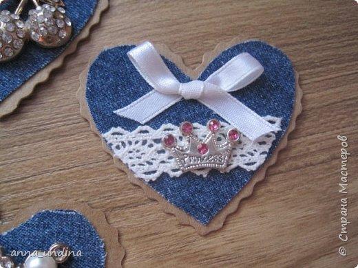 Вот такие валентинки получились в этом году. Использовала джинсовую ткань со старых джинс. фото 17