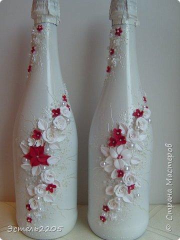 Сочетание белого с красным в свадебных аксессуарах  наверное всегда будет популярным. Этот набор уехал в Иваново к очень красивой паре - Марине и Кириллу. фото 2