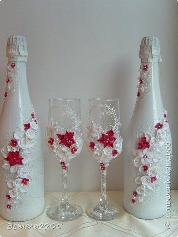 Сочетание белого с красным в свадебных аксессуарах  наверное всегда будет популярным. Этот набор уехал в Иваново к очень красивой паре - Марине и Кириллу. фото 1