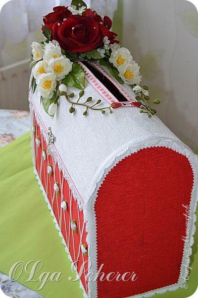 Вот такой короб я делала для моего племянника на свадбу.Примерно такой-же но больше цветов был букет невесты фото 4