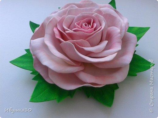 Ну вот и я решила, наконец-то, попробовать поработать с фоамираном.  Очень понравилось! В отличие от атласной ленты цветы из фома получаются более реалистичней. фото 5