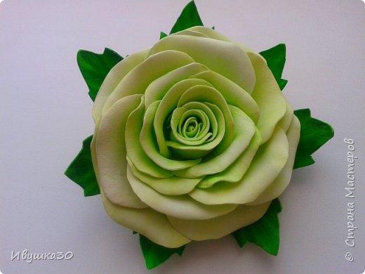 Ну вот и я решила, наконец-то, попробовать поработать с фоамираном.  Очень понравилось! В отличие от атласной ленты цветы из фома получаются более реалистичней. фото 7