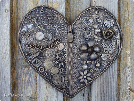 Здравствуйте уважаемые жители страны.Очень понравились сердечки (http://stranamasterov.ru/node/856811?c=favorite)  (http://stranamasterov.ru/node/871647?c=favorite).Под впечатлением у меня получилось такое сердце. фото 1