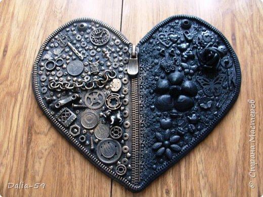 Здравствуйте уважаемые жители страны.Очень понравились сердечки (http://stranamasterov.ru/node/856811?c=favorite)  (http://stranamasterov.ru/node/871647?c=favorite).Под впечатлением у меня получилось такое сердце. фото 13