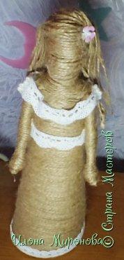 Мои первые шпагатные куколки . Продолжаю делать работы для выставки ,вот что получилось. фото 3