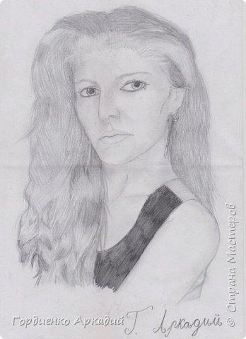 Портрет моей знакомой подруги,которая видимо не столь радостно отнеслась к предложению создать её портрет...) фото 2