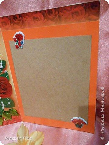 """Всем привет! Сдаю работу на конкурс """"День влюблённых"""". (http://stranamasterov.ru/node/1000874) Решил сделать открытку. Взял за основу готовую открытку и заклеил её обоями, оставшимися от ремонта.  фото 7"""