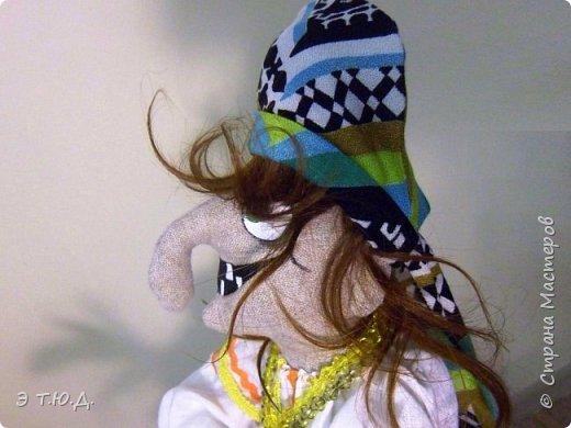 Бабка Петровишна продолжает серию бабок Ежек сшитых из текстиля. фото 7