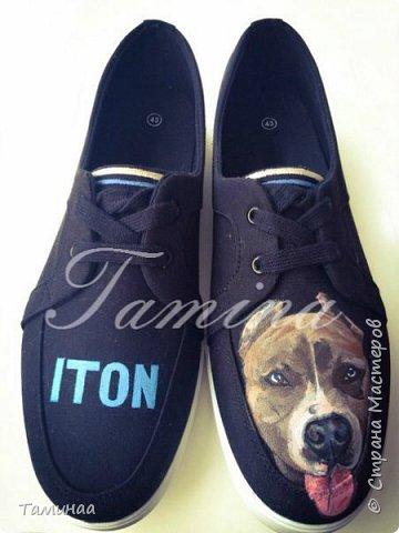Ручная роспись на обуви фото 1