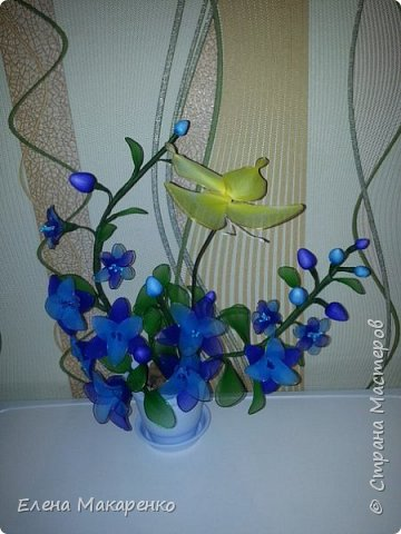 Цветы из капрона фото 4