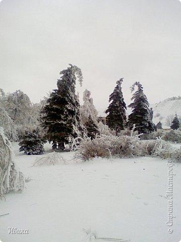 """Город в котором я живу называется красиво так - СнЕжное! И он полностью оправдывает своё название. Как я писала в одном из комментариев, если в соседних городах и сёлах снегом припорошило землю, то у нас насыпало по щиколотку. У соседей по щиколотку - у нас по коленку... А бывает и так, что у нас снега, как говорил Матроскин, """"завались"""", в соседних городах ни снежинки! И когда к нам едут в гости, просим учитывать, что у нас полным-полно снега и мороз. Все улыбаются и хихикают (те, кто едет к нам впервые). Мол """"Какой такой снег?!"""" И оооочччееень удивляются, когда видят сугробы по самую крышу! А ведь в каких-то десяти км от города снега нет и в помине! Так, слегка, кое-где и еле-еле заметно.  Фото прошлой зимы. Январь 30, 31 и начало февраля.  фото 15"""