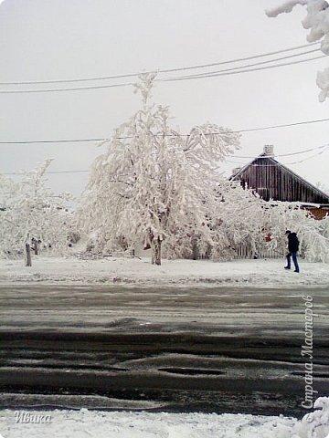 """Город в котором я живу называется красиво так - СнЕжное! И он полностью оправдывает своё название. Как я писала в одном из комментариев, если в соседних городах и сёлах снегом припорошило землю, то у нас насыпало по щиколотку. У соседей по щиколотку - у нас по коленку... А бывает и так, что у нас снега, как говорил Матроскин, """"завались"""", в соседних городах ни снежинки! И когда к нам едут в гости, просим учитывать, что у нас полным-полно снега и мороз. Все улыбаются и хихикают (те, кто едет к нам впервые). Мол """"Какой такой снег?!"""" И оооочччееень удивляются, когда видят сугробы по самую крышу! А ведь в каких-то десяти км от города снега нет и в помине! Так, слегка, кое-где и еле-еле заметно.  Фото прошлой зимы. Январь 30, 31 и начало февраля.  фото 22"""