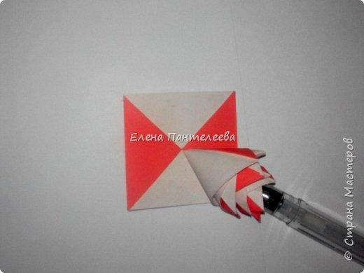 Валентинка с розами из полоски бумаги. фото 22