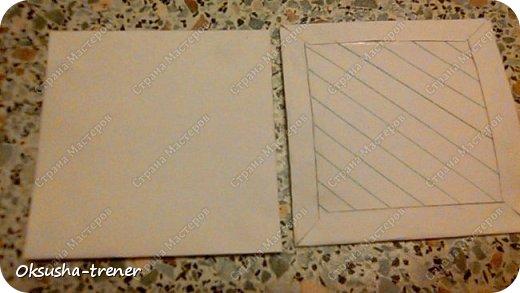 Мастер класс по изготовлению большой коробочки можно найти здесь: http://www.wonderful-day.ru/skoro-svadba/kladovaya-sekretov/sunduchok-dlya-deneg/39-2-master-klass-po-skrapbukingu-korobochka-dlya-deneg. Эта коробочка рассчитана на 27 шоколадок. Для изготовления коробочки на 12 шоколадок подготовьте : Из дизайнерского картона (цвет выбираем по своему вкусу) квадрат 7,5 х 7,5 см 2штуки квадрат 9,5 х 9,5 см 2штуки прямоугольник 6,8 х 19 см 1 штука квадрат 14,8 х 14,8 см 1 штука  фото 8