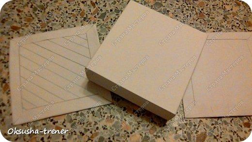 Мастер класс по изготовлению большой коробочки можно найти здесь: http://www.wonderful-day.ru/skoro-svadba/kladovaya-sekretov/sunduchok-dlya-deneg/39-2-master-klass-po-skrapbukingu-korobochka-dlya-deneg. Эта коробочка рассчитана на 27 шоколадок. Для изготовления коробочки на 12 шоколадок подготовьте : Из дизайнерского картона (цвет выбираем по своему вкусу) квадрат 7,5 х 7,5 см 2штуки квадрат 9,5 х 9,5 см 2штуки прямоугольник 6,8 х 19 см 1 штука квадрат 14,8 х 14,8 см 1 штука  фото 16
