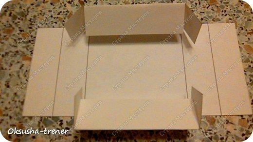 Мастер класс по изготовлению большой коробочки можно найти здесь: http://www.wonderful-day.ru/skoro-svadba/kladovaya-sekretov/sunduchok-dlya-deneg/39-2-master-klass-po-skrapbukingu-korobochka-dlya-deneg. Эта коробочка рассчитана на 27 шоколадок. Для изготовления коробочки на 12 шоколадок подготовьте : Из дизайнерского картона (цвет выбираем по своему вкусу) квадрат 7,5 х 7,5 см 2штуки квадрат 9,5 х 9,5 см 2штуки прямоугольник 6,8 х 19 см 1 штука квадрат 14,8 х 14,8 см 1 штука  фото 14