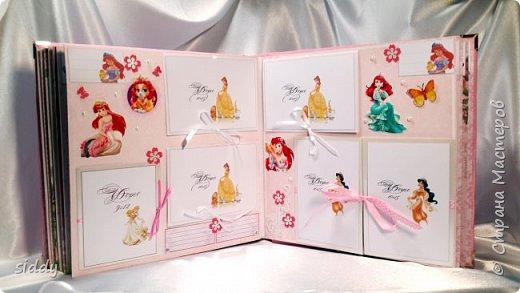 Делала на заказ альбомчик для 5-летней девочки. Тема Принцессы Диснея))) фото 2