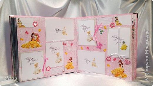 Делала на заказ альбомчик для 5-летней девочки. Тема Принцессы Диснея))) фото 3