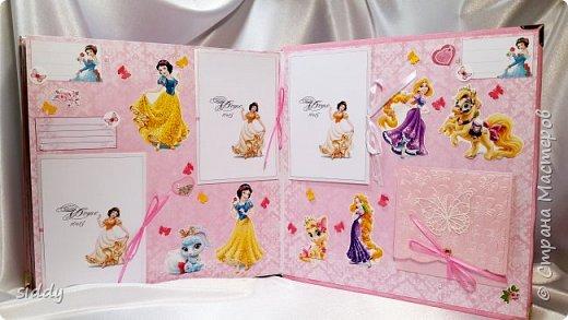 Делала на заказ альбомчик для 5-летней девочки. Тема Принцессы Диснея))) фото 4