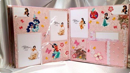 Делала на заказ альбомчик для 5-летней девочки. Тема Принцессы Диснея))) фото 5