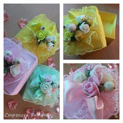 Подарочная коробочка с цветами,для небольшого подарка,денежного подарка . фото 3