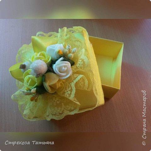 Подарочная коробочка с цветами,для небольшого подарка,денежного подарка . фото 1