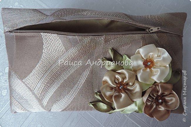 Для вышивки понадобится: атласная лента(ширина 2,5см, 1см),пуговицы или бусинки, нитки. Для клатча понадобится: основная ткань, подкладочная ткань,уплотнитель. фото 13
