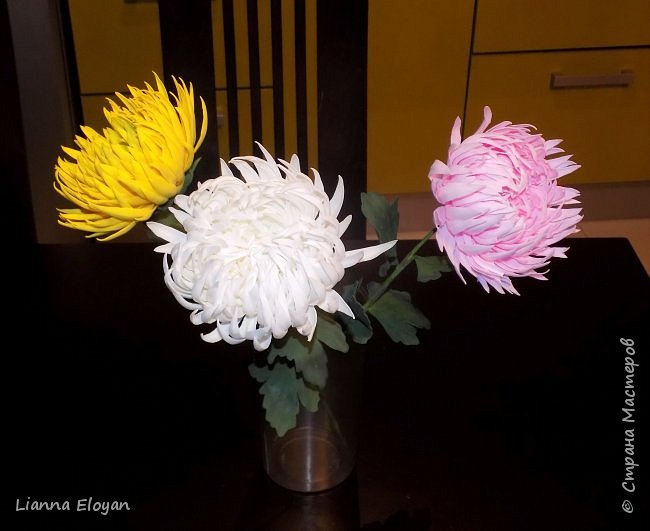 хризантемы из фоамирана фото 2