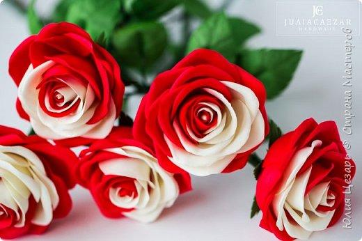 Розы из фоамирана  фото 5