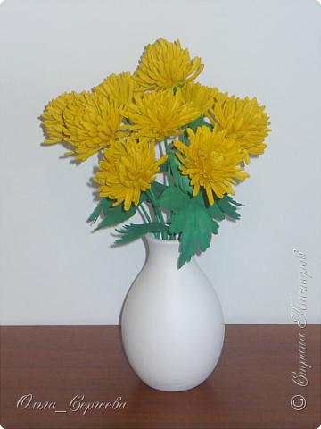 """Вот такие маленькие хризантемы я решила сделать, очень захотелось """"солнышка"""". фото 1"""
