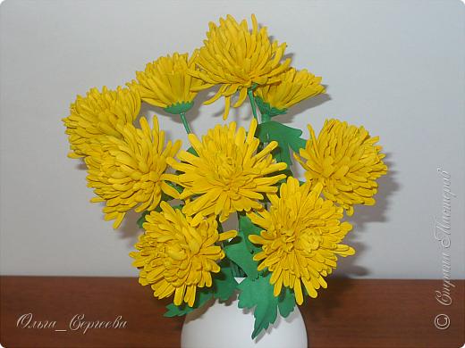 """Вот такие маленькие хризантемы я решила сделать, очень захотелось """"солнышка"""". фото 2"""