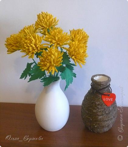 """Вот такие маленькие хризантемы я решила сделать, очень захотелось """"солнышка"""". фото 3"""