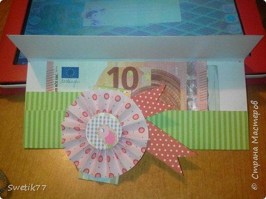 """Вот такой """"денежный конвертик смастерила сыну на день рождение.  фото 2"""