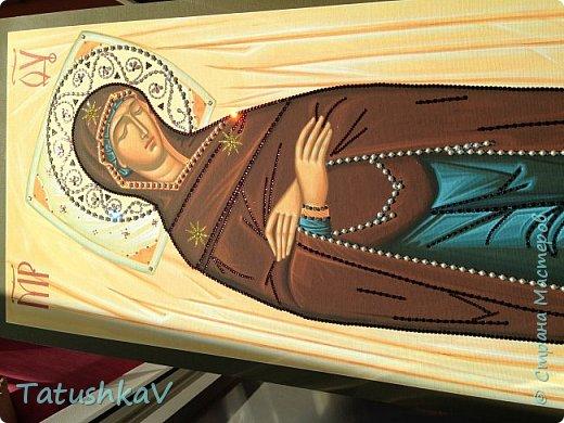 Украшение Плащаницы Богородицы стразами Сваровски, жемчугом фото 3