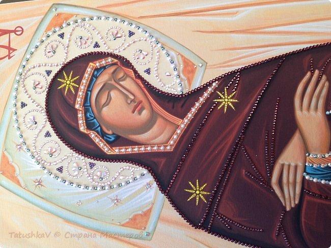 Украшение Плащаницы Богородицы стразами Сваровски, жемчугом фото 1