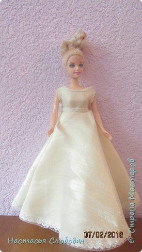 это моё самоё первое  платье для барби фото 1