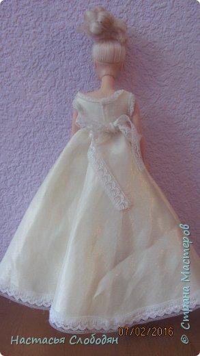 это моё самоё первое  платье для барби фото 2