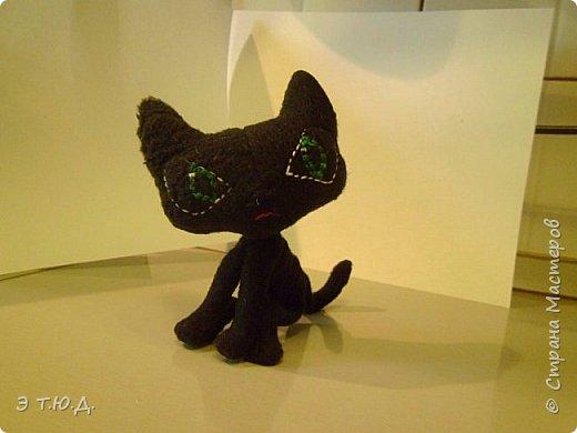 Понадобился для бабки Ежки котик. Долго искала подходящую модель. И нашла. Прототипом послужил котик для бабы Яги автора Пилигримка (см. Мини-МК в Стране Мастеров). фото 1