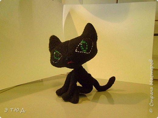 Понадобился для бабки Ежки котик. Долго искала подходящую модель. И нашла. Прототипом послужил котик для бабы Яги автора Пилигримка (см. Мини-МК в Стране Мастеров). фото 12