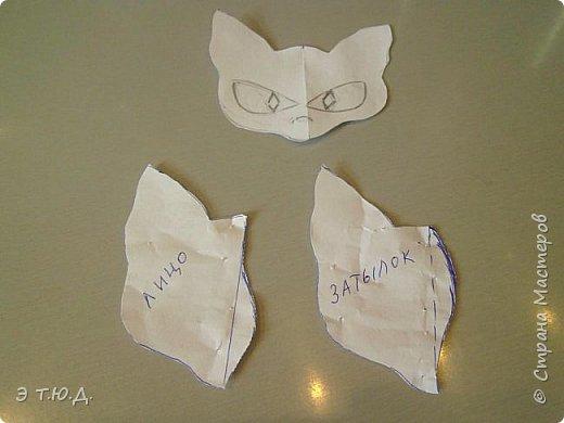 Понадобился для бабки Ежки котик. Долго искала подходящую модель. И нашла. Прототипом послужил котик для бабы Яги автора Пилигримка (см. Мини-МК в Стране Мастеров). фото 5