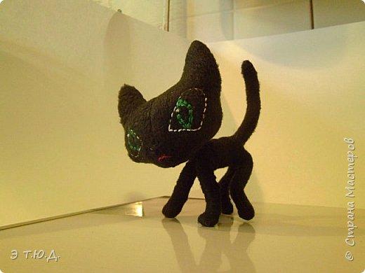 Понадобился для бабки Ежки котик. Долго искала подходящую модель. И нашла. Прототипом послужил котик для бабы Яги автора Пилигримка (см. Мини-МК в Стране Мастеров). фото 9