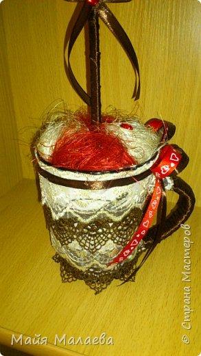 Топиарий из кофейных зёрен в виде сердца. Отправляется в магазин в кофейный отдел. )  фото 4